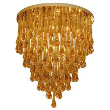 barovier and toso large glass teardrop chandelier for sale