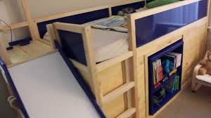 How To Build A Platform Bed With Storage Underneath by Ikea Hack Kura Bed With Slide And Secret Room Youtube