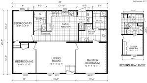 Double Wide Mobile Home Floor Plans Casey 28 X 40 1066 Sqft Mobile Home Factory Expo Home Centers