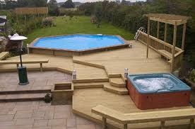 amusing above floor pool deck plans to improve your pool ideas