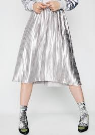 pleated skirt glamorous liquid metal pleated skirt dolls kill