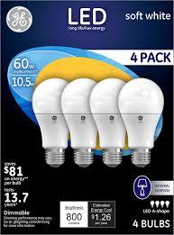 Led Light Bulbs Ge ge lighting 88733 energy smart led 10 5 watt 800 lumen a19 bulb