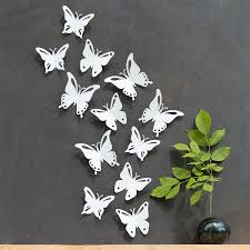 white butterfly wall decor 3d set of 12 popart made in zoom
