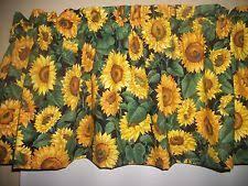 Sunflower Valance Curtains Floral 100 Cotton Valances Ebay