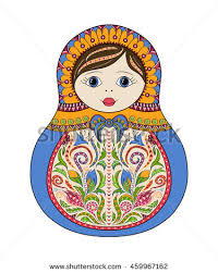 vector russian folk ornamental matryoshka doll stock vector