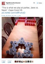 Beer Pong Meme - high school confessions jews vs nazis beer pong know your meme