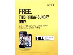sprint s leaked black friday ad touts free galaxy nexus and galaxy