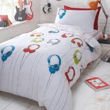 bluezoo white u0027headphones u0027 reversible bedding set at debenhams