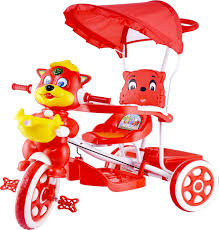 tricycle cartoon oximus baby tricycle with canopy and parent handle color red
