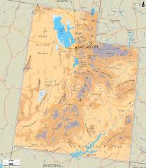 Map Of Counties In Utah by Physical Map Of Utah Ezilon Maps