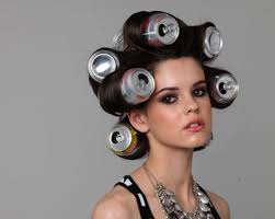 coke blowout hairstyle coke cans as hair rollers yes it really works to help add volume