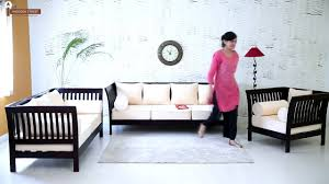Teak Wood Furniture Online In India Sofa Set Online Wooden Raiden Sofa Set Wooden Street Youtube