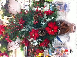 poinsettia u0026 pinecone arrangement christmas 2013 decorating