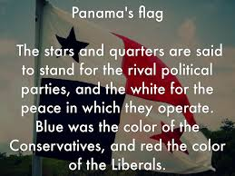 what does the color blue represent panama by elijah sanders