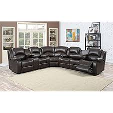 Triple Recliner Sofa by Amazon Com Donovan 6 Piece Sectional With 3 Recliners Kitchen
