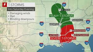 Louisiana Weather Map by Dangerous Thunderstorms To Rattle Parts Of Southern Us Into