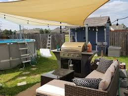 just finished up putting shade sails in the back yard maybe my