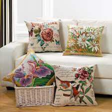 coussin de luxe pour canapé 1 pcs lot floral oiseaux brodé de luxe velours tissu housse de