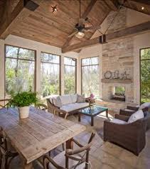 Screen Porch Fireplace by Screened Porch With Fireplace For The Home Pinterest