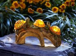 turtle solar powered outdoor light petslady
