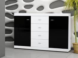 kommode weiãÿ hochglanz design kommode schwarzbraun weiß rheumri