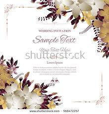 invitation greeting wedding invitation greeting card abstract floral stock vector