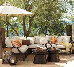 Thick Patio Furniture Cushions Decor Miraculous Outdoor Dinning Set Design In Dark Grey Wicker