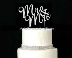 bling wedding cake toppers lulu sparkles llc rhinestone bling wedding monogram mr mrs