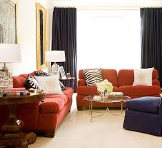 Orange Curtains For Living Room 15 Red Living Room Design Ideas