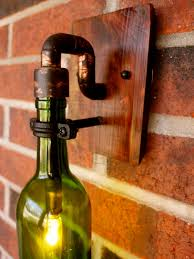 Wine Bottle Light Fixtures Wine Bottle Light Lamp Industrial Sconce Exterior 40 Watt