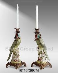 Home Interior Porcelain Figurines by Home Decoration Bronze Candle Stick Porcelain Parrots Figurine