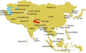 map of nepal and india where is nepal nepal is in between india and china visitnepal com