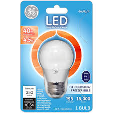 refrigerator light bulb size ge lighting led 83645 4 5 watt 350 lumen a15 refrigerator freezer