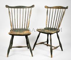 fan back windsor armchair matched pair fan back windsor side chairs probably boston area circa