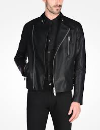 padded leather motorcycle jacket armani exchange asymetrical faux leather moto jacket pu for men