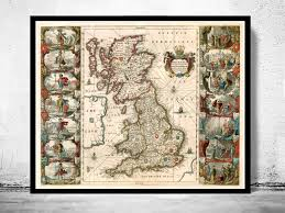 map uk ireland scotland map of united kingdom ireland scotland 1642 uk