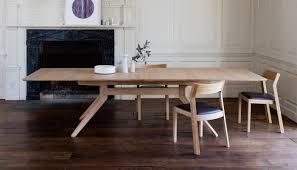 hardwood dining room furniture case matthew hilton cross extending dining table
