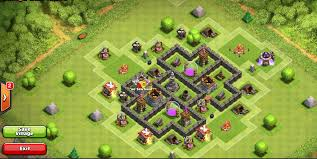 townhall 5 base clash of clans pinterest