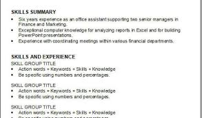 Action Words On Resume Resume En Resume Special Skills To Put On Resume 2 9 2000 1600