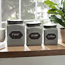 black kitchen canisters ivory and black kitchen canisters set of 4 kirklands
