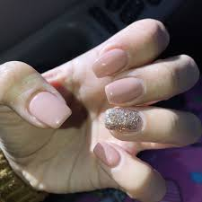 went from oval shaped nails to squared gel nails by jenny