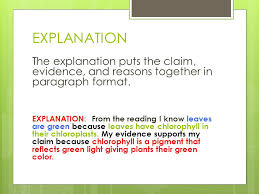 claims evidence and reasoning ppt video online download