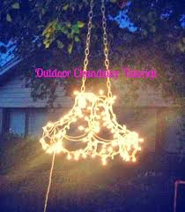 Homemade Outdoor Chandelier by The Baby Giraffe Projects