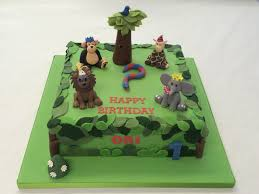 square jungle cake boys birthday cakes celebration cakes