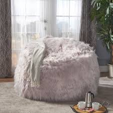 lachlan faux furry bean bag by christopher knight home free