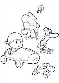 pocoyo coloring pages spanish coloring pages pocoyo