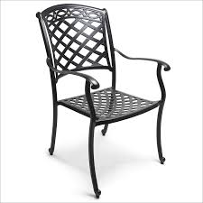 Stackable Aluminum Patio Chairs by Comfortcare Cast Aluminum Stacking Dining Armchair Set Of 4 By