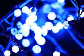 blue christmas lights silver chips online