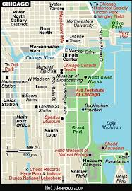 chicago tourist map map of chicago tourist map travel holidaymapq com
