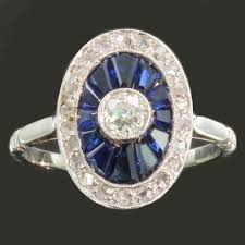 most elegant french art deco engagement ring with diamonds and